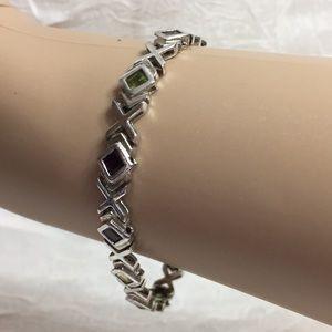 Jewelry - Gorgeous Silver and Gemstone Bracelet